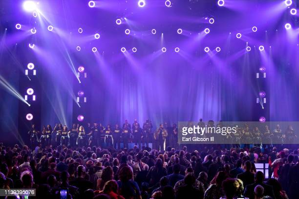 Hezekiah Walker performs during the 34th annual Stellar Gospel Music Awards at the Orleans Arena on March 29 2019 in Las Vegas Nevada