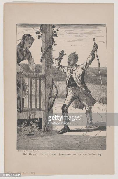 Hi! Ho-o-o! He Done Come. Jumboloro Tell you Fust , June 1869. Artist Unknown.