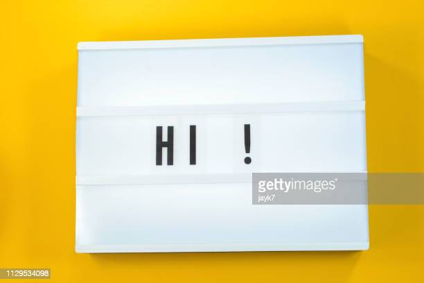 hi - greeting stock pictures, royalty-free photos & images