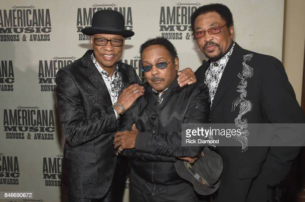 Hi Rhythm pose for a photo during the 2017 Americana Music Association Honors Awards on September 13 2017 in Nashville Tennessee