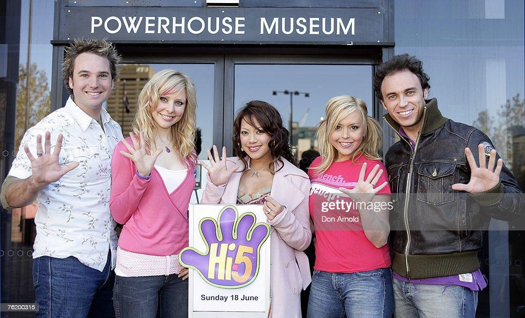 Hi-5 cast members   Tim Harding, Charli Delaney, Kathleen de Leon