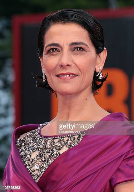 Hiam Abbass attends the 'Miral' premiere during the 67th Venice Film Festival at the Sala Grande Palazzo Del Cinema on September 2 2010 in Venice...