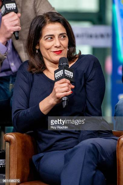 Hiam Abbass discusses 'Succession' with the Build Series at Build Studio on May 22 2018 in New York City