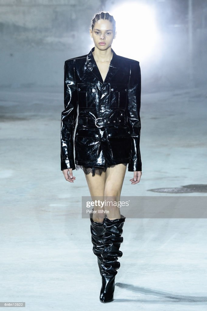 Hiandra Martinez walks the runway during the Saint Laurent show as part of the Paris Fashion Week Womenswear Fall/Winter 2017/2018 >> on February 28, 2017 in Paris, France.