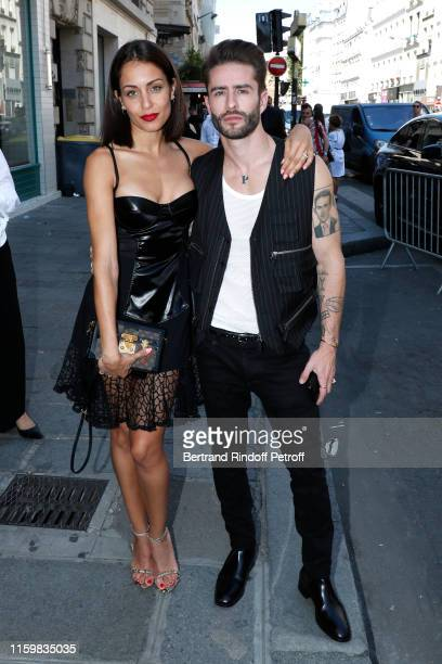 Hiba Abouk and Pelayo Díaz attend the Jean Paul Gaultier Haute Couture Fall/Winter 2019 2020 show as part of Paris Fashion Week on July 03 2019 in...