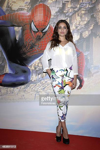 Hiba Abouk attends 'The Amazing SpiderMan 2 Rise Of Electro' special screening reception at the at US ambassador's residence on April 10 2014 in...