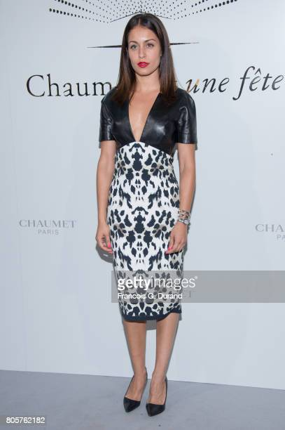 Hiba Abouk attends the Chaumet Est Une Fete Haute Joaillerie Collection Launch as part of Haute Couture Paris Fashion Week on July 2 2017 in Paris...