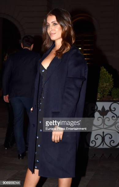 Hiba Abouk attends the homage dinner to Victoria Beckham hosted by Vogue Magazine at Santo Mauro hotel on January 18 2018 in Madrid Spain
