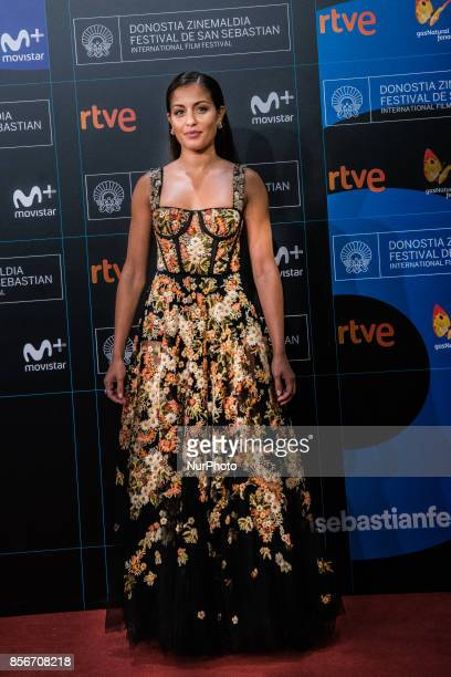 Hiba Abouk attends the red carpet of the closure gala during 65th San Sebastian Film Festival at Kursaal on September 30 2017 in San Sebastian Spain