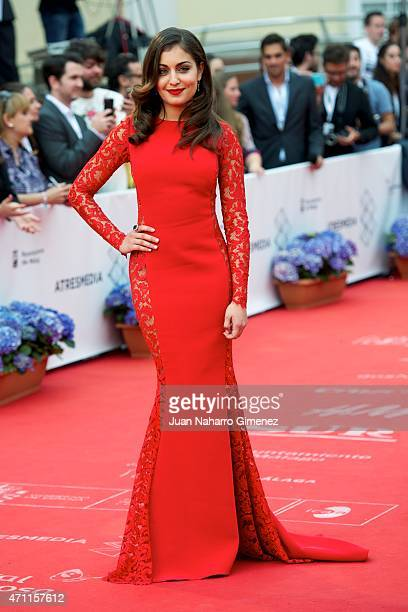Hiba Abouk attends the 'Solo Quimica' premiere during the 18th Malaga Spanish Film Festival at the Cervantes Theater on April 25 2015 in Malaga Spain