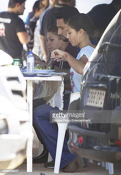 Hiba Abouk is seen during set filming of 'El Principe' on October 30 2014 in Madrid Spain
