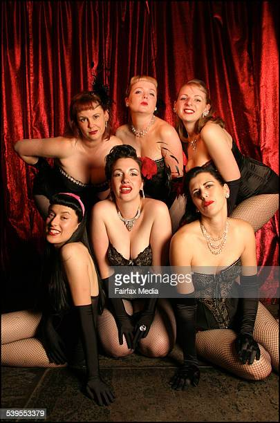 HiBall Burlesque troupe at Cherry Bar ACDC LaneCity Cheekheeta Marghareeta Dolores Daiquiri Brandy Alexander Rusty Nail Muffy Manhatten and Lilly...