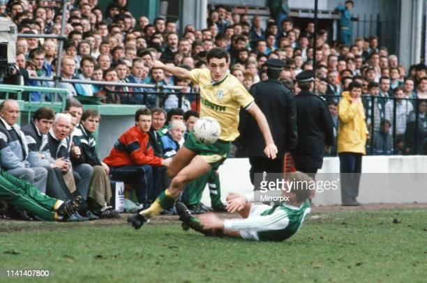 Hibernian 02 Celtic Scottish Premier League match at Easter Road Saturday 2nd April 1988