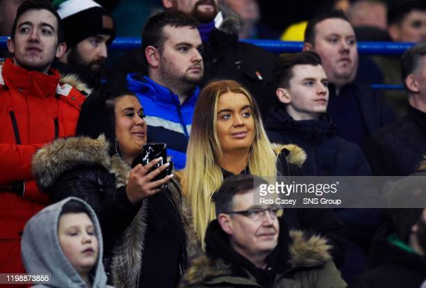 Hibernian fan and Euromillions winner Jane Park is pictured during the Ladbrokes Premiership match between Rangers and Hibernian, at Ibrox, on 05...