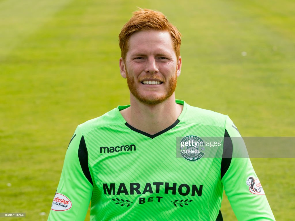 Hibernian FC Head shots Season 2018/19 : News Photo