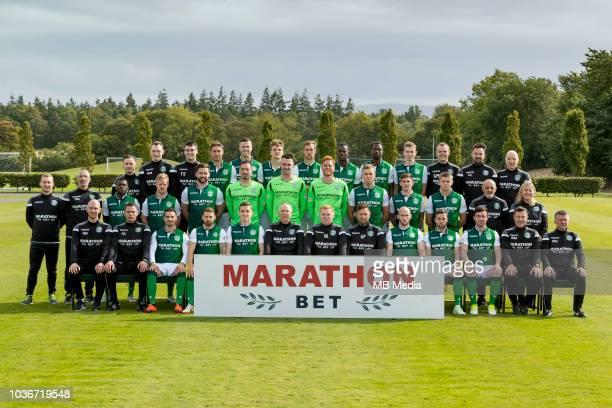2018/19 Hibernian FC Head shots Season 2018/19 'nBack Calvin Charlton Rory Monks Tommy Scanlon Mark Milligan Flo Kamberi Vykintas Slivka Steven...