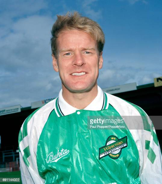 Hibernian footballer Murdo MacLeod at Easter Road in Edinburgh circa August 1990