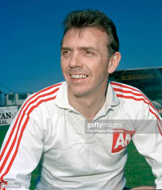 Hibernian manager Alex Miller at Easter Road in Edinburgh circa August 1990
