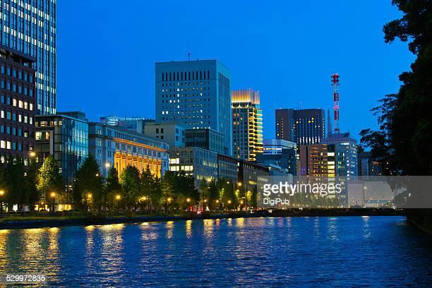 Hibiya seen from Marunouchi, night shot