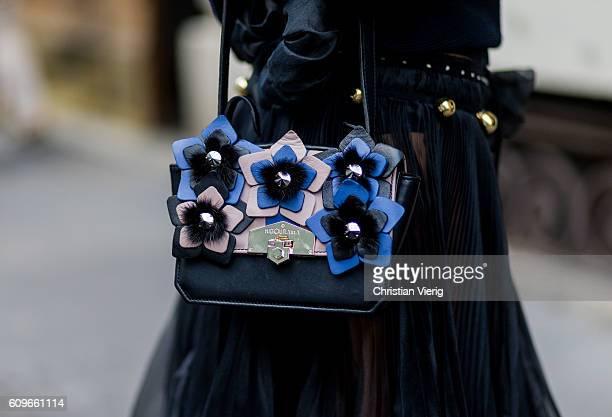 Hibourama bag is seen outside No21 during Milan Fashion Week Spring/Summer 2017 on September 21 2016 in Milan Italy