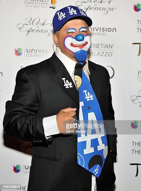 Hiccups the Clown arrives at the Padres Contra El Cancer's 14th annual 'El Sueno de Esperanza' celebration at The Venetian Las Vegas on November 1...