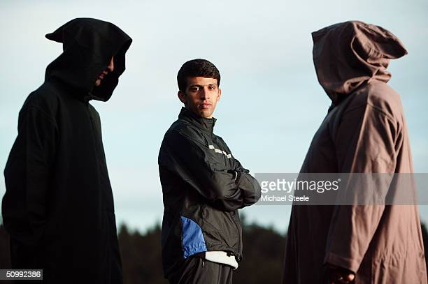 Hicham El Guerrouj 1500m and 5000m runner of Morocco and Olympic favourite for Athens at the high altitude training area on March 31 2004 in Ifrane...