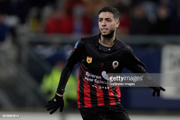 Hicham Faik of Excelsior during the Dutch Eredivisie match between SC Heerenveen v Excelsior at the Abe Lenstra Stadium on February 24 2018 in...