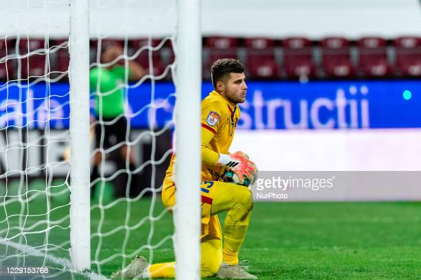 Hidajet Hankic saves a ball during the 7th game in the Romania League 1 between CFR Cluj and FC Botosani, at Dr.-Constantin-Radulescu-Stadium,...