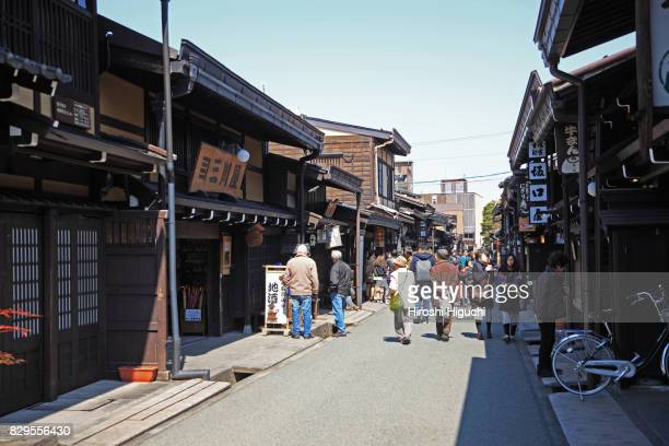 hida-takayama old private houses, takayama, gifu, japan - takayama city stock pictures, royalty-free photos & images