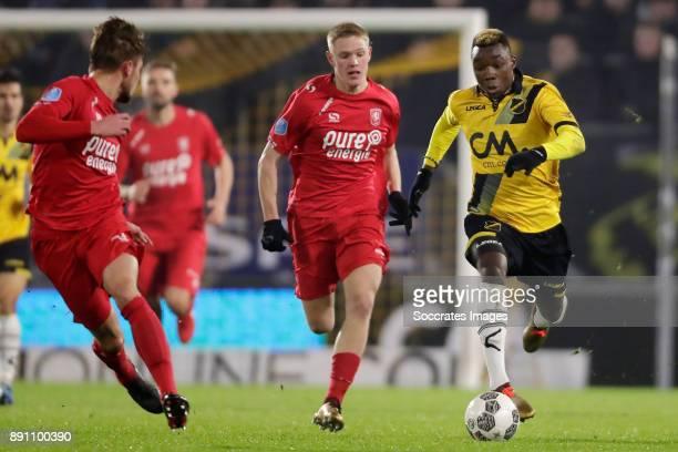 Hidde Ter Avest of FC Twente Thierry Ambrose of NAC Breda during the Dutch Eredivisie match between NAC Breda v Fc Twente at the Rat Verlegh Stadium...
