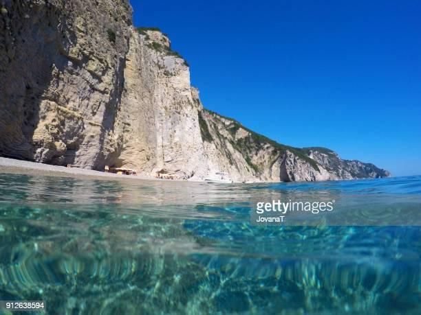 Hidden beach on Corfu island