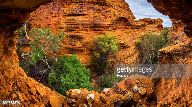 Hidden Canyon in the maze of weathered sandstone