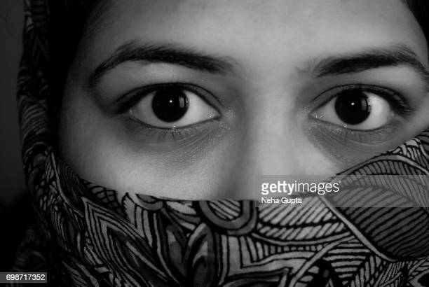 hidden face - one young woman only stock pictures, royalty-free photos & images