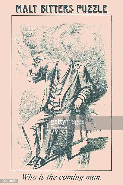 Hidden in this picture is the head of a man Where is he Taken from an old beer advertisement for Malt Bitters This image dates from the turn of the...