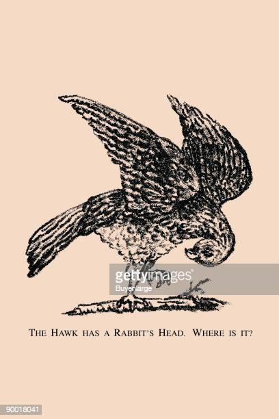 Hidden in this picture is the head of a rabbit Where is it This image dates from the turn of the century and was the face of a trade card used as...
