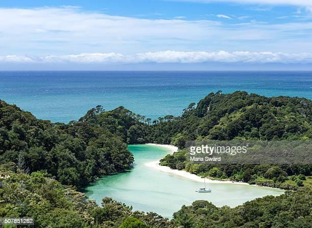 Hidden lagoon - Abel Tasman National Park, South island, New Zealand