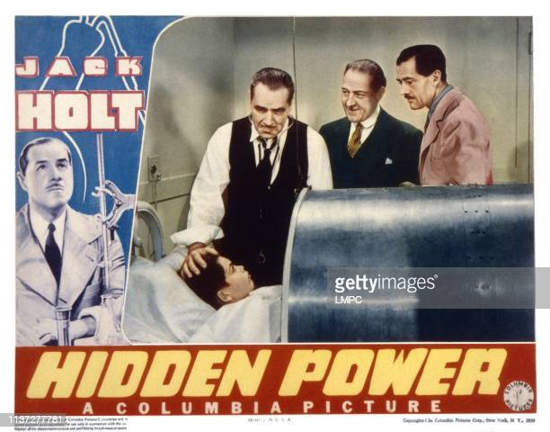 Hidden Power lobbycard from left Dickie Moore Jack Holt Holmes Herbert 1939