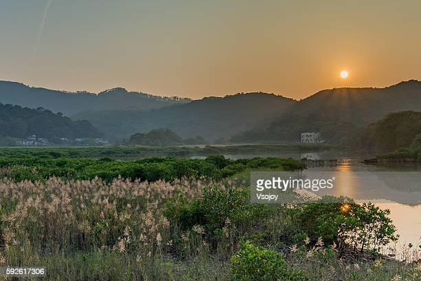 hidden scenic rural area, hong kong - vsojoy stockfoto's en -beelden