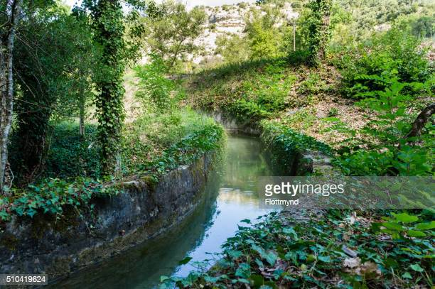 hidden small canal - alpes de haute provence stock pictures, royalty-free photos & images