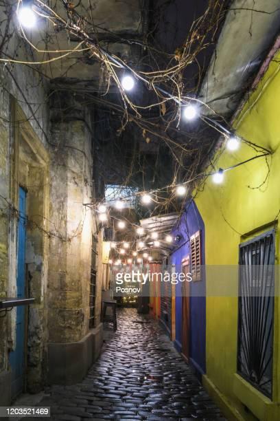 hidden street at odessa passage - odessa ukraine stock pictures, royalty-free photos & images