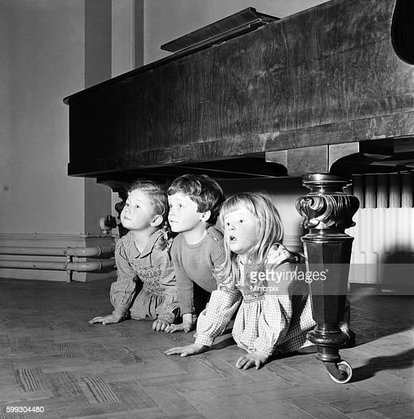 Hide and Seek Infant schoolchildren playing during a dance and movement class Feburary 1953 D715001
