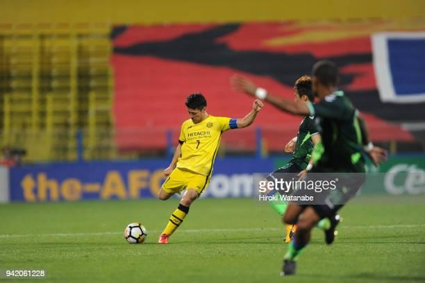 Hidekazu Otani of Kashiwa Reysol in action during the AFC Champions League Group E match between Kashiwa Reysol and Jeonbuk Hyundai Motors at Sankyo...