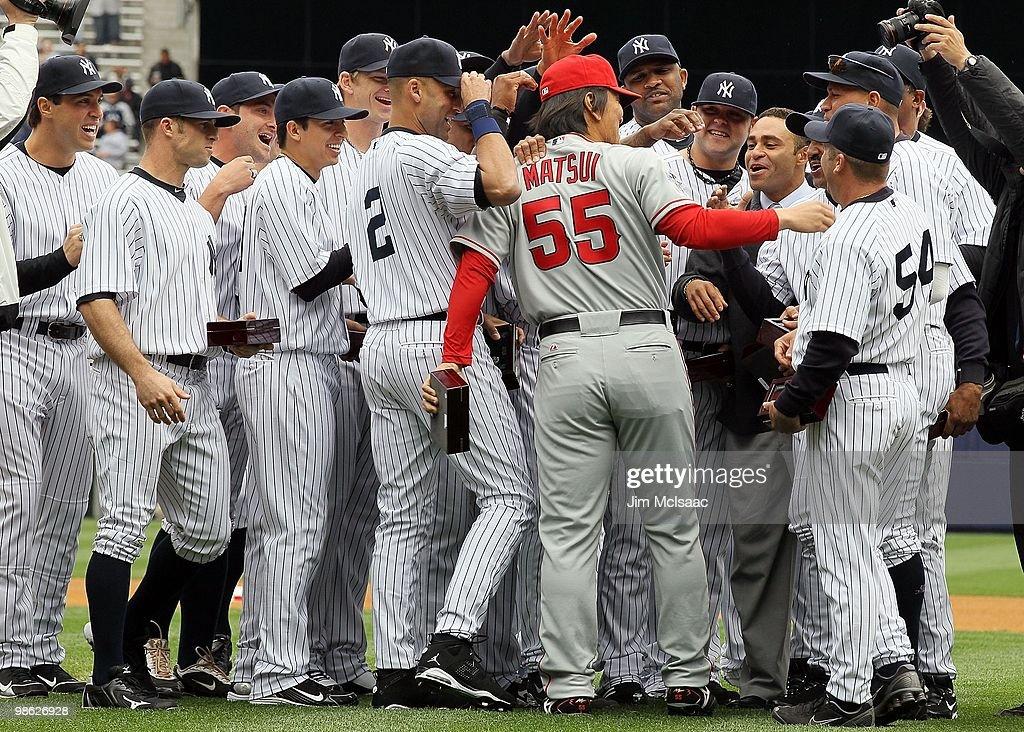 Los Angeles Angels of Anaheim v New York Yankees : News Photo