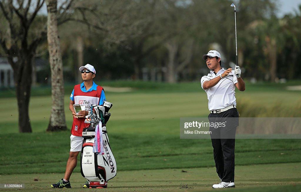 Hideki Matsuyama Of Japan Hits His Approach Shot On The 11th Hole