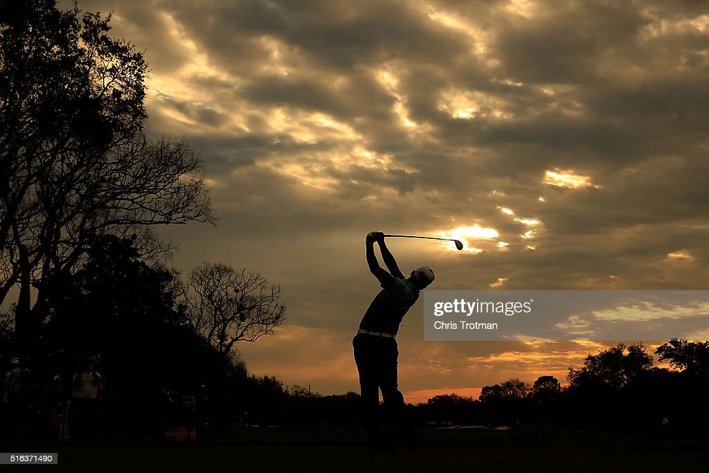 Hideki Matsuyama of Japan hits his tee shot on the 11th hole during the second round of the Arnold Palmer Invitational Presented by MasterCard at Bay Hill Club and Lodge on March 18, 2016 in Orlando, Florida.
