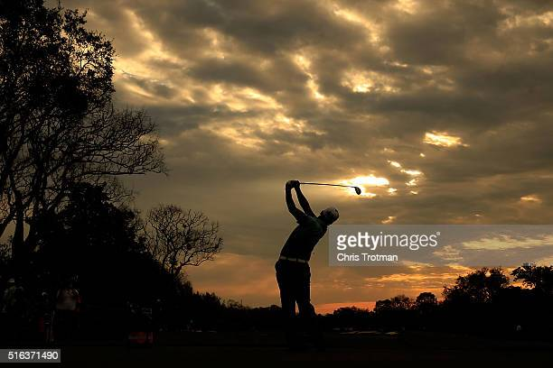 Hideki Matsuyama of Japan hits his tee shot on the 11th hole during the second round of the Arnold Palmer Invitational Presented by MasterCard at Bay...