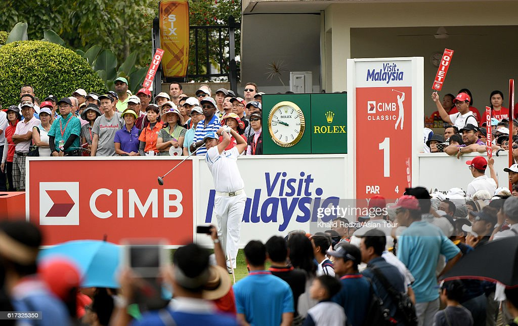 Hideki Matsuyama of Japan in action during day four of the 2016 CIMB Classic at Kuala Lumpur Golf & Country Club on October 23, 2016 in Kuala Lumpur, Malaysia.
