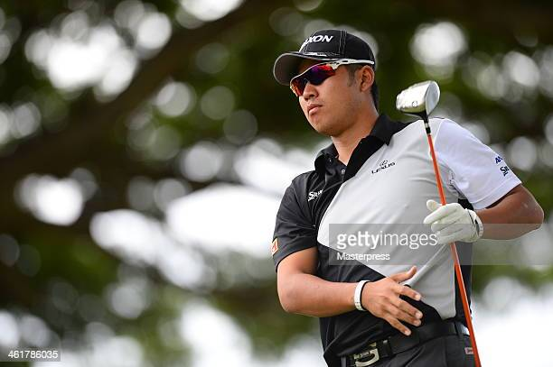 Hideki Matsuyama of Japan in action during the proam round prior to the Sony Open in Hawaii at Waialae Country Club on January 8 2014 in Honolulu...