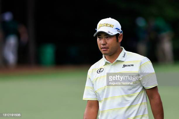 Hideki Matsuyama of Japan on the No. 5 hole during the final round of the Masters at Augusta National Golf Club, Sunday, April 11, 2021.