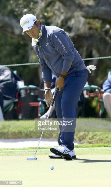 Hideki Matsuyama of Japan plays during the final round of the Arnold Palmer Invitational golf tournament at Bay Hill Club & Lodge in Orlando,...